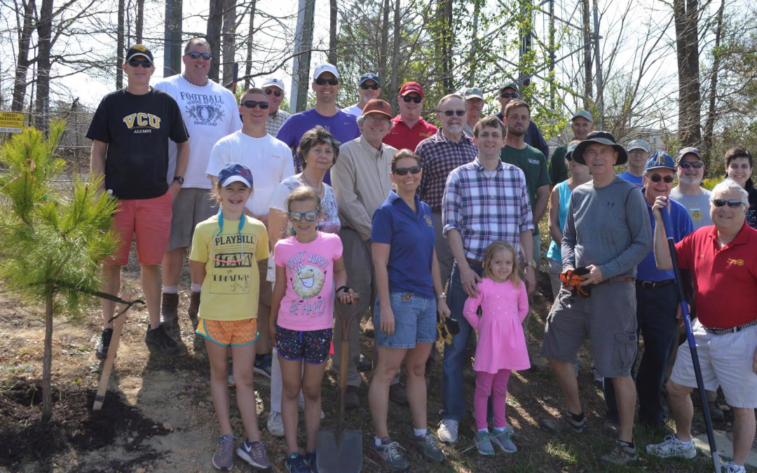 Rotarians Plant 137 Trees at River City Sportsplex